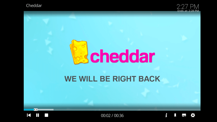 Step 11 - How to Install Cheddar Kodi Addon Guide