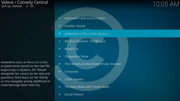 Step 11 - How to Install Comedy Central Kodi Addon Guide