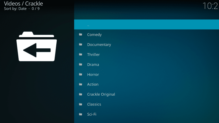 Step 11 - How to Install Crackle Kodi Addon Guide