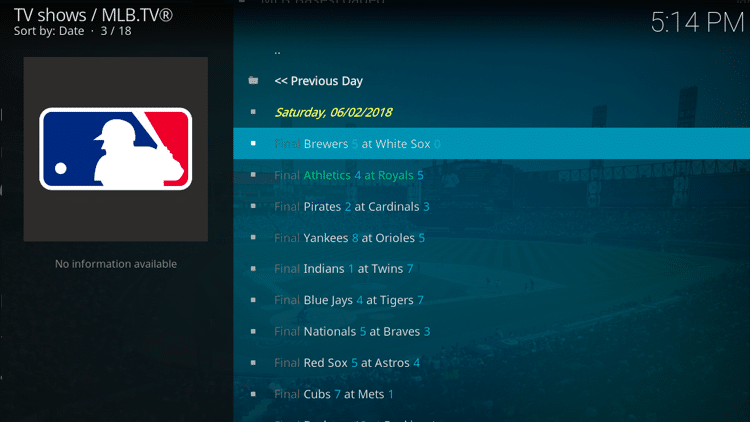 Step 11 - How to Install MLB TV Kodi Addon Guide