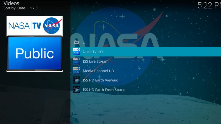 Step 11 - How to Install NASA Kodi Addon Guide