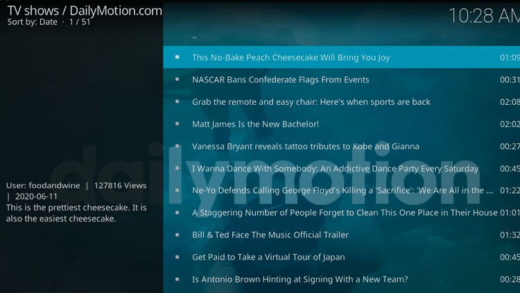 Step 12 - How to Install DailyMotion Kodi Addon Guide