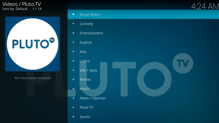 Step 12 - How to Install Pluto TV Kodi Addon Guide