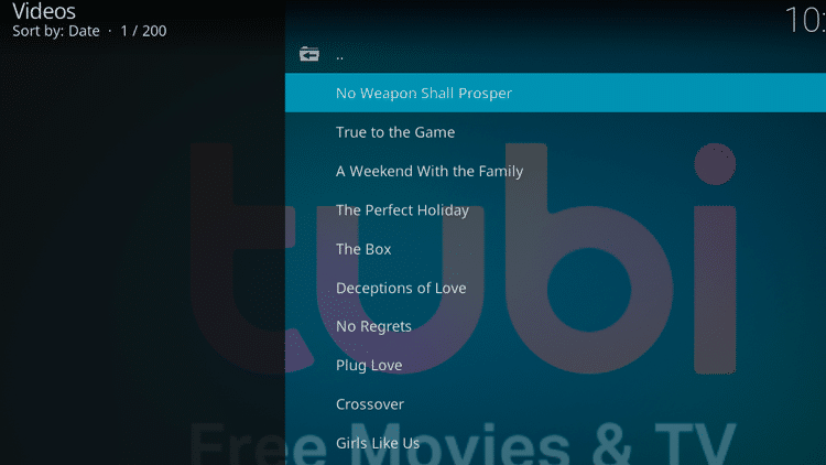Step 13 - How to Install Tubi TV Kodi Addon Guide