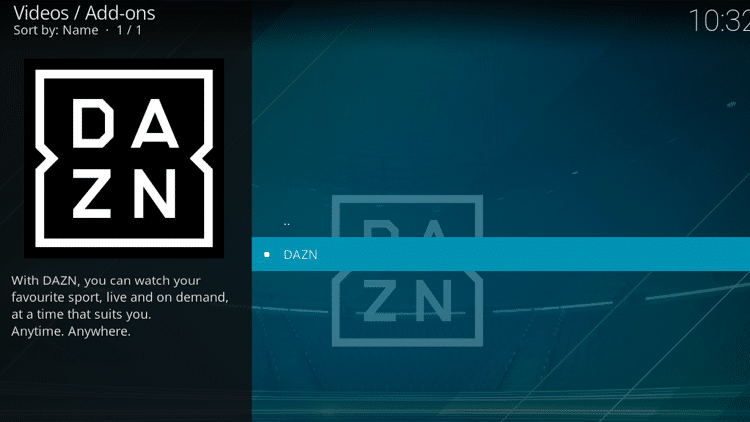Step 15 - How to Install DAZN Kodi Addon Guide