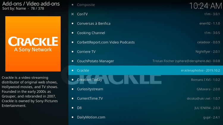 Step 5 - How to Install Crackle Kodi Addon Guide