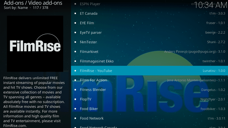 Step 5 - How to Install FilmRise Kodi Addon Guide