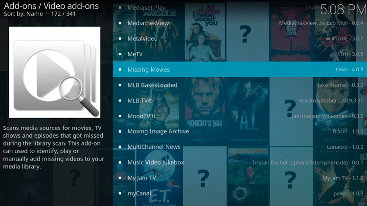 Step 5 - How to Install Missing Movies Kodi Addon Guide