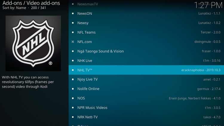 Step 5 - How to Install NHL TV Kodi Addon Guide