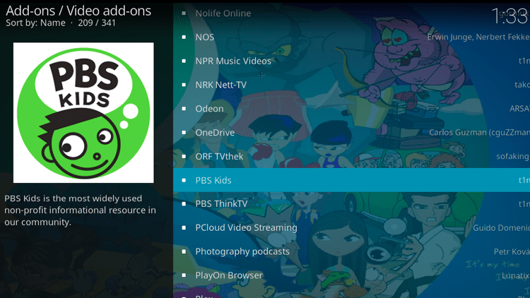 Step 5 - How to Install PBS Kids Kodi Addon Guide