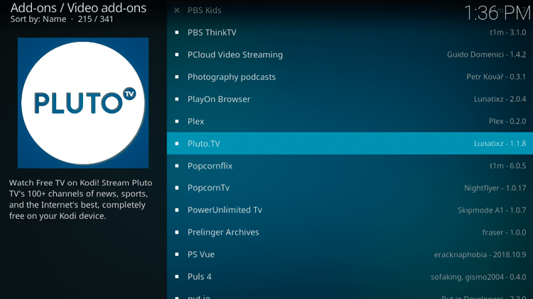 Step 5 - How to Install Pluto TV Kodi Addon Guide