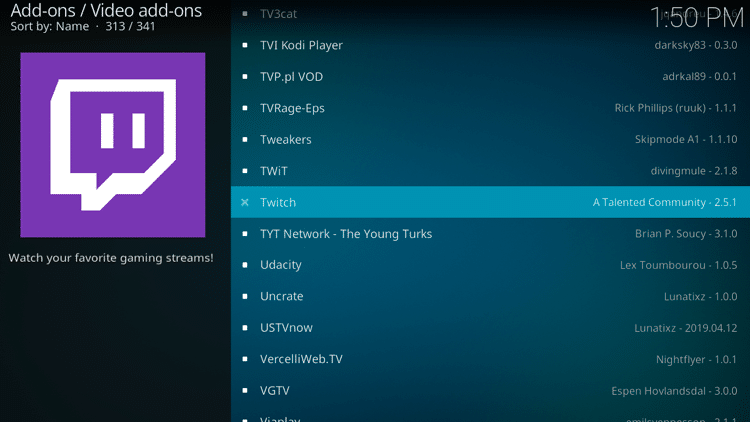 Step 5 - How to Install Twitch Kodi Addon Guide