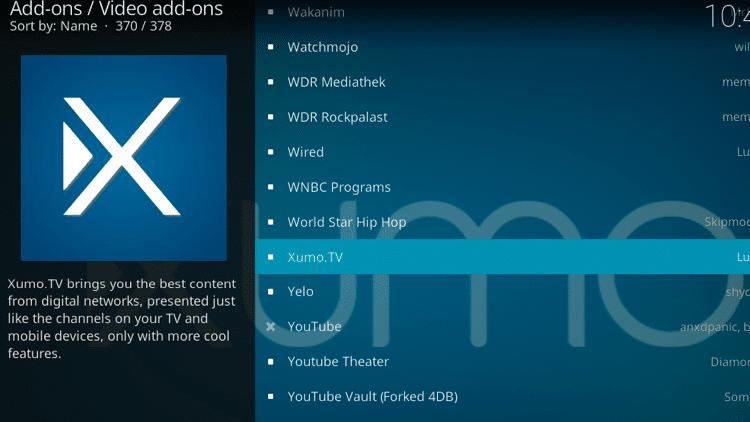 Step 5 - How to Install Xumo.TV Kodi Addon Guide