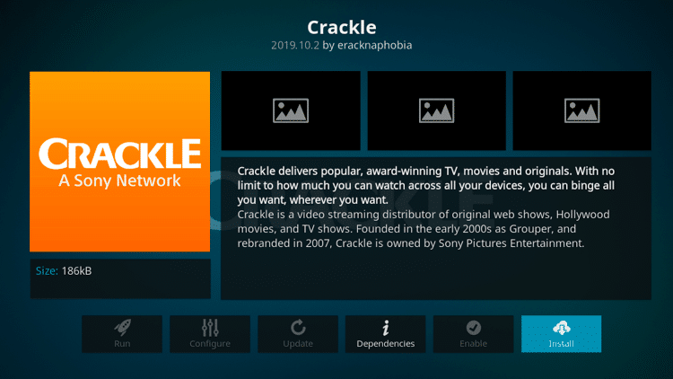 Step 6 - How to Install Crackle Kodi Addon Guide