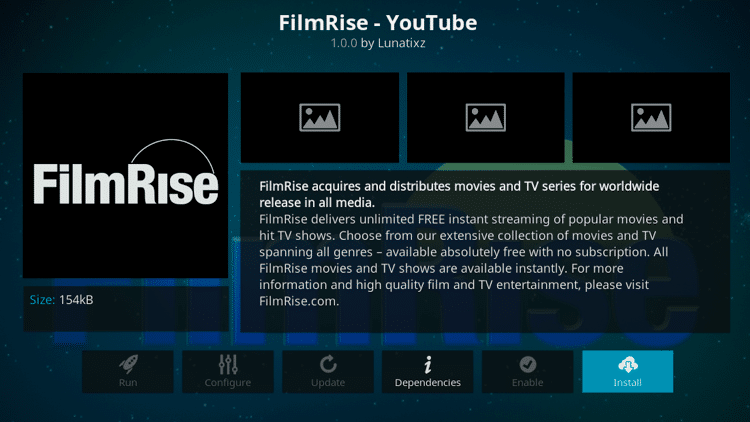 Step 6 - How to Install FilmRise Kodi Addon Guide