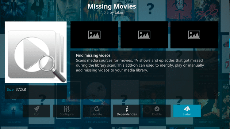 Step 6 - How to Install Missing Movies Kodi Addon Guide