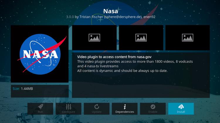 Step 6 - How to Install NASA Kodi Addon Guide
