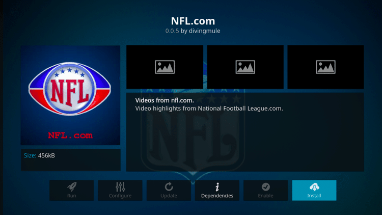 Step 6 - How to Install NFL.com Kodi Addon Guide
