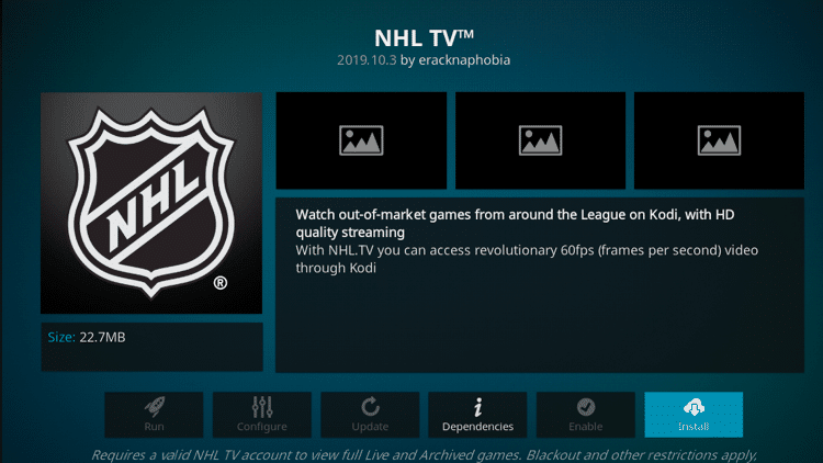 Step 6 - How to Install NHL TV Kodi Addon Guide