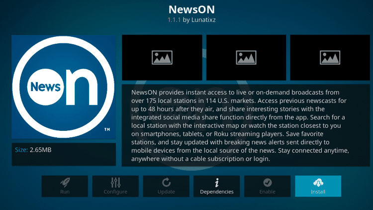Step 6 - How to Install NewsON Kodi Addon Guide