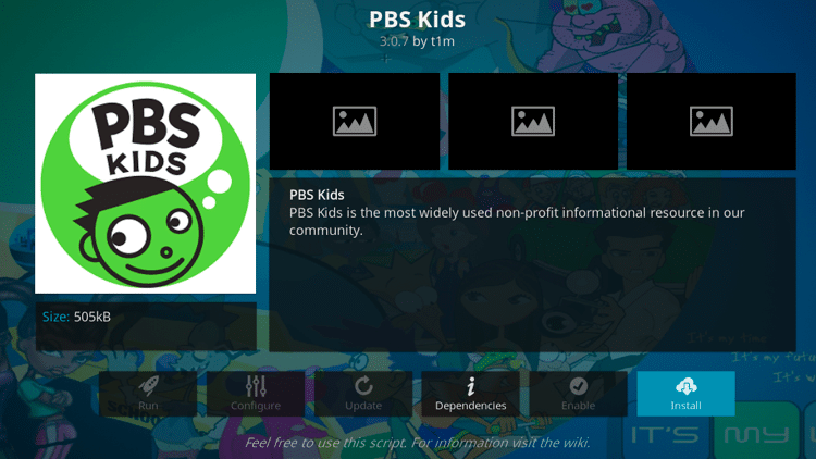 Step 6 - How to Install PBS Kids Kodi Addon Guide