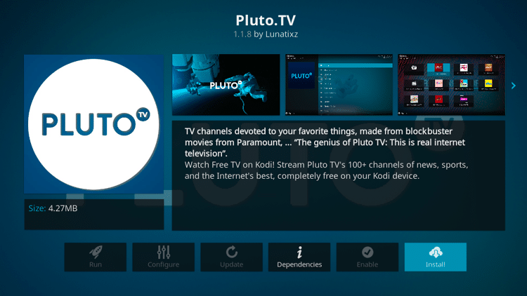 Step 6 - How to Install Pluto TV Kodi Addon Guide