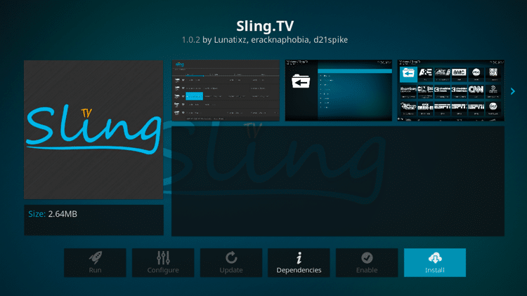 Step 6 - How to Install Sling TV Kodi Addon Guide