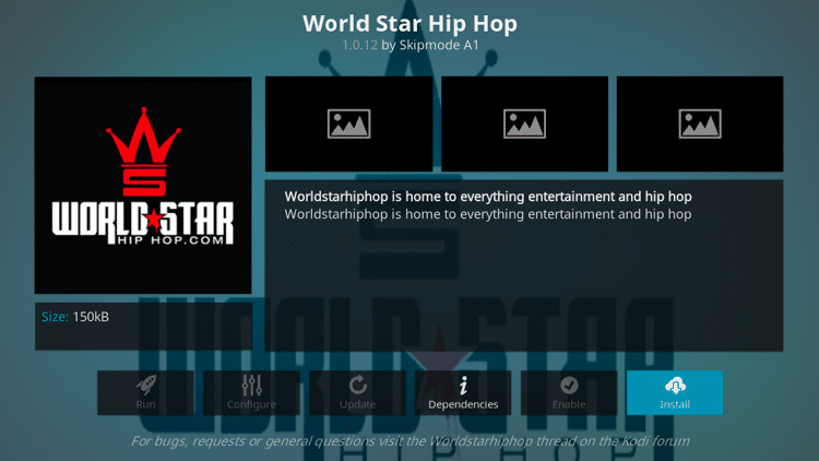 Step 6 - How to Install World Star Hip Hop Kodi Addon Guide