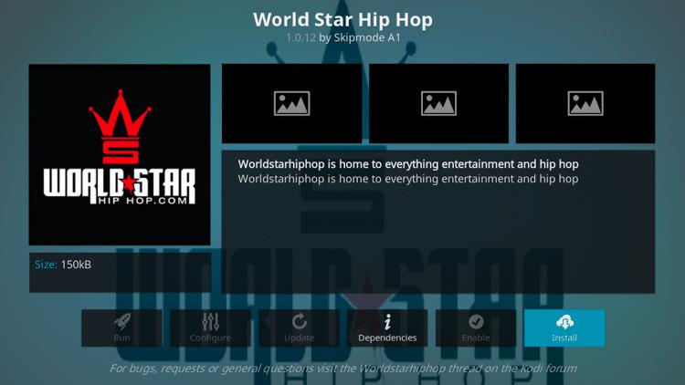 Step 6 - How to Install World Star Hip Hop Kodi Addon Guide