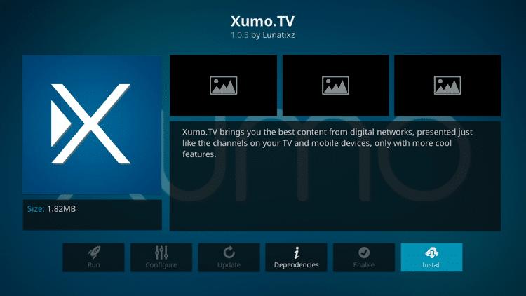 Step 6 - How to Install Xumo.TV Kodi Addon Guide
