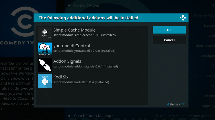 Step 7 - How to Install Comedy Central Kodi Addon Guide