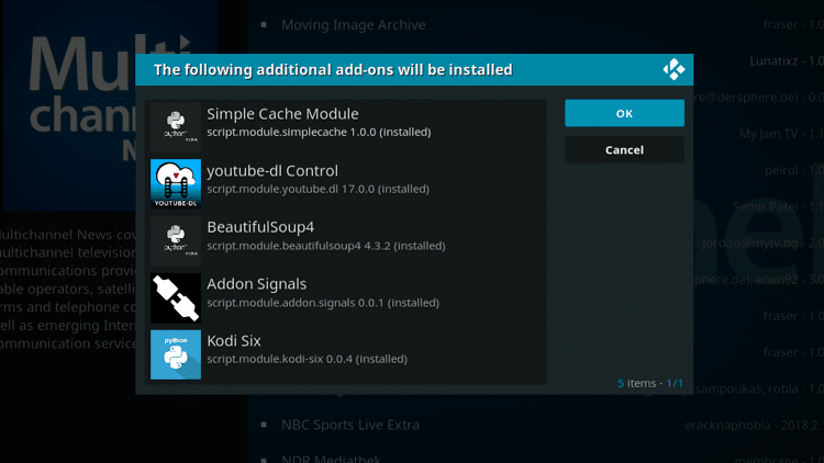 Step 7 - How to Install MultiChannel News Kodi Addon Guide