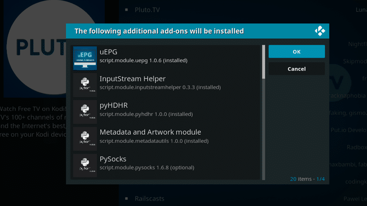 Step 7 - How to Install Pluto TV Kodi Addon Guide