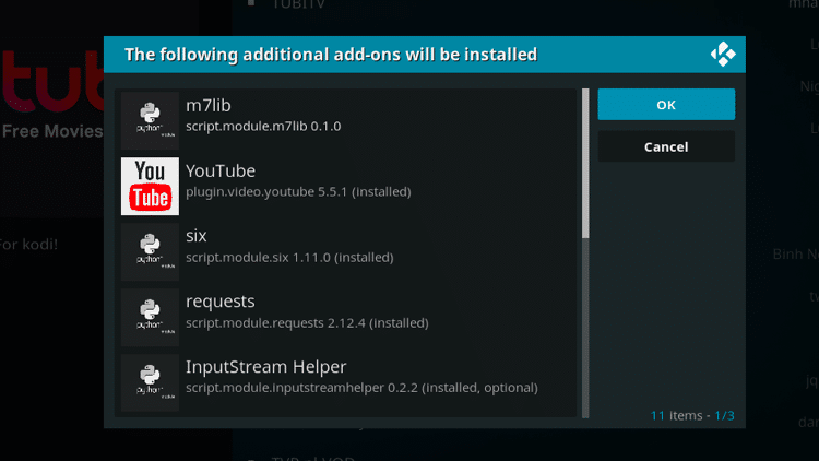Step 7 - How to Install Tubi TV Kodi Addon Guide