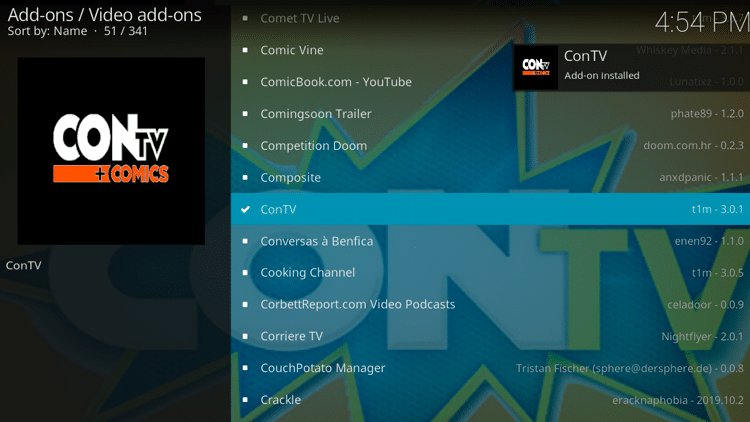 Step 8 - How to Install ConTV Kodi Addon Guide