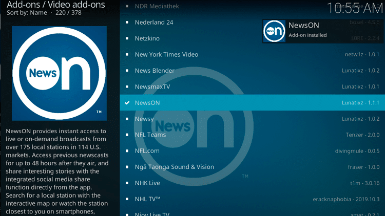 Step 8 - How to Install NewsON Kodi Addon Guide