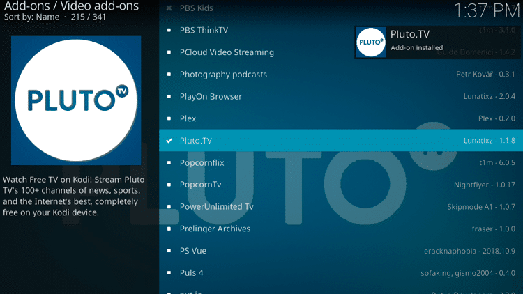 Step 8 - How to Install Pluto TV Kodi Addon Guide