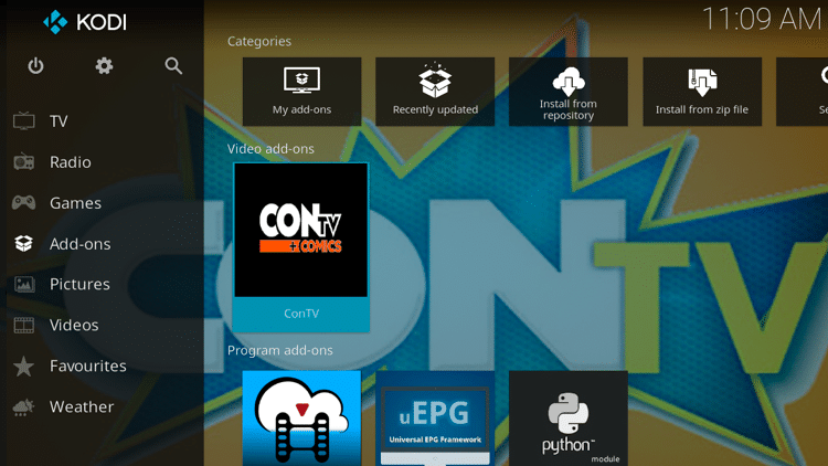 Step 9 - How to Install ConTV Kodi Addon Guide