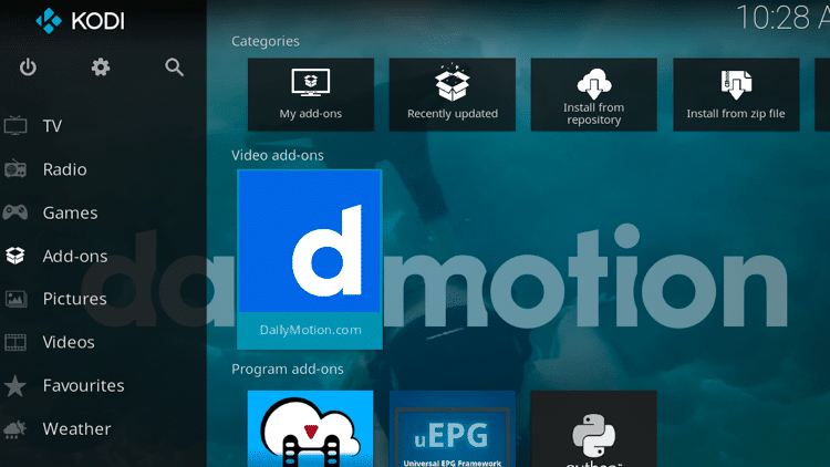 Step 9 - How to Install DailyMotion Kodi Addon Guide