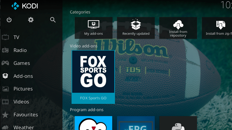 Step 9 - How to Install FoxSports Go Kodi Addon Guide