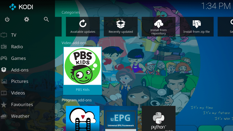 Step 9 - How to Install PBS Kids Kodi Addon Guide