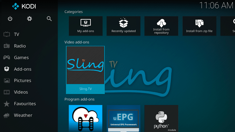 Step 9 - How to Install Sling TV Kodi Addon Guide