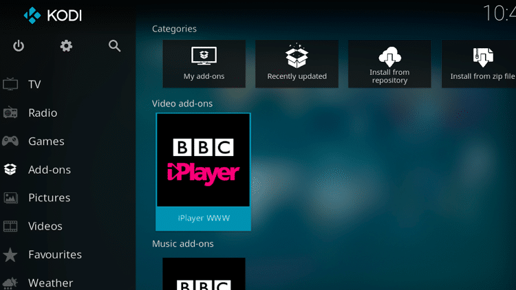 Step 9 - How to Install iPlayer WWW Kodi Addon Guide