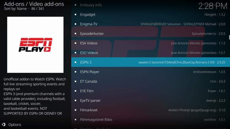 Choose ESPN 3