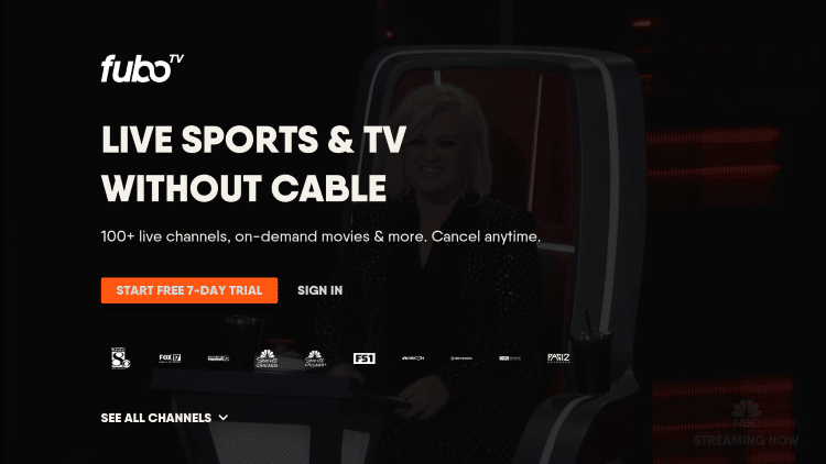"""That's it! When launching fuboTV on your Roku device you can either Sign In or select """"Don't Have an Account?"""""""
