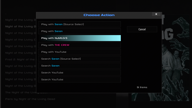 When selecting content, I suggest using the Numbers Kodi Addon