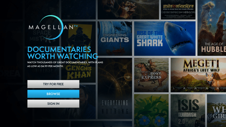 That's it! You have successfully installed the MagellanTV app on your Roku device.