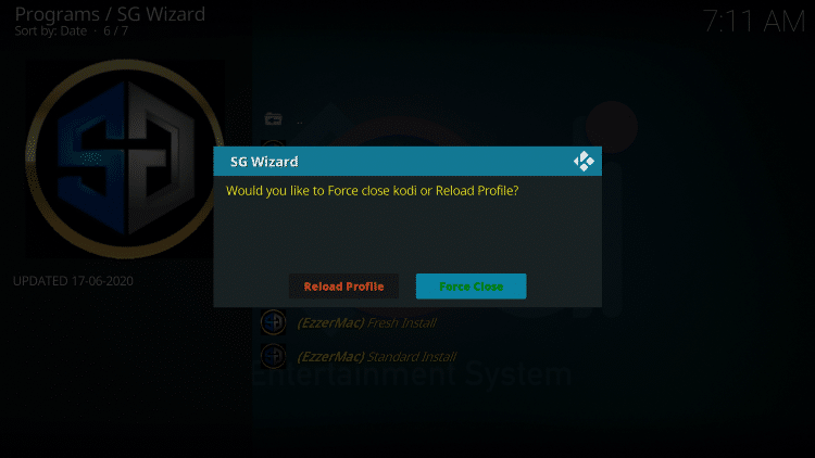 When this message appears click Force Close