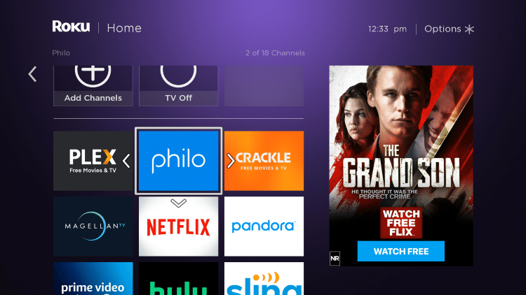 Move the Philo app wherever you prefer on your Roku channels list