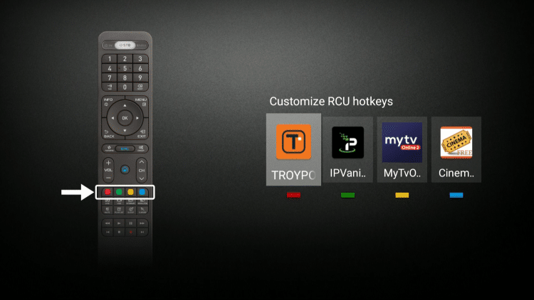 Apps for hotkeys on Formuler Z8